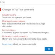 YouTube lancia un nuovo sistema di commenti