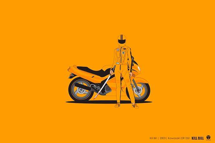 La moto della protagonista