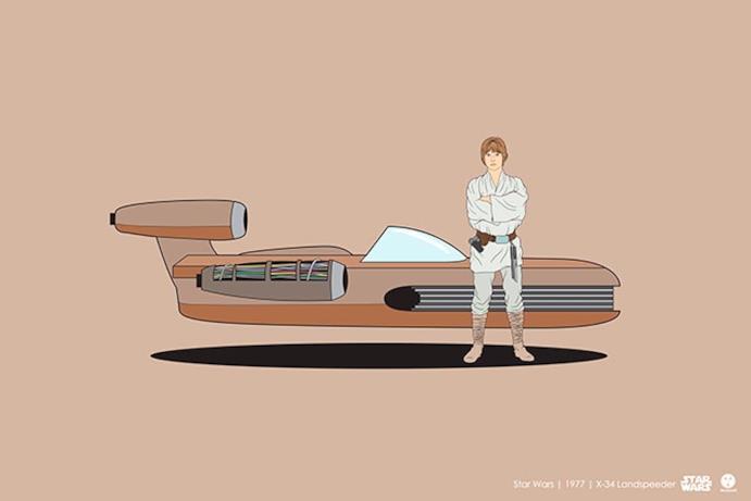 Il mezzo di trasporto visibile in Star Wars
