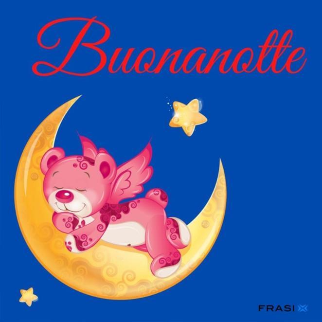 Immagine orsetto con scritta buonanotte