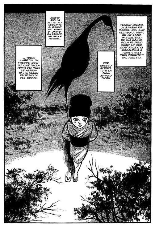 Tsuru spiega il paragone con una gru infreddolita