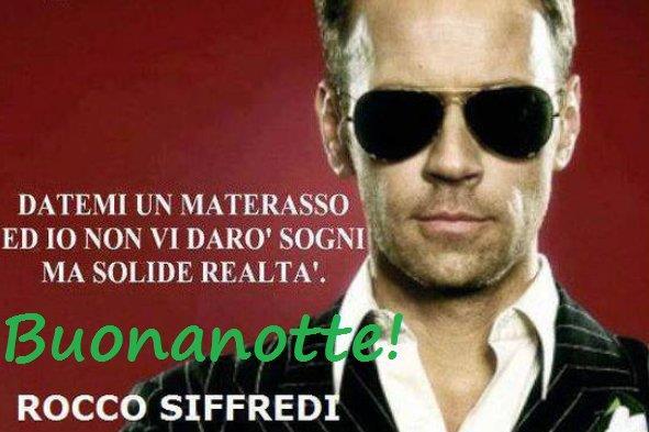Rocco Siffredi e una frase scherzosa sulla buonanotte