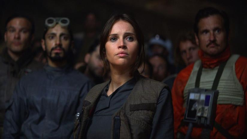 Una scena dal film Rogue One: A Star Wars Story