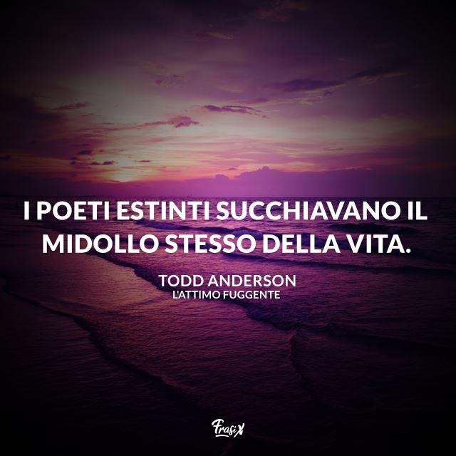 I poeti estinti succhiavano il midollo stesso della vita.