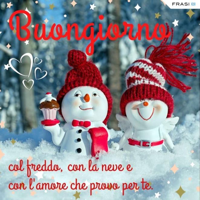 Buongiorno amore invernale con citazione