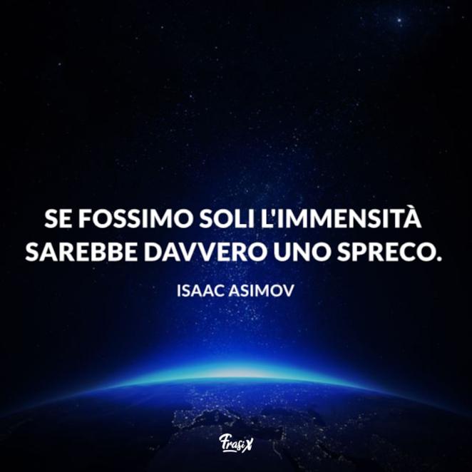 Immagine con citazione Asimov per frasi sull'infinito