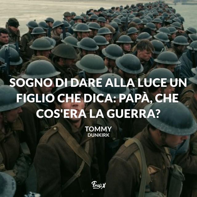 Sogno di dare alla luce un figlio che dica: Papà, che cos'era la guerra?
