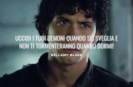 Bellamy Blake con frase celebre The 100