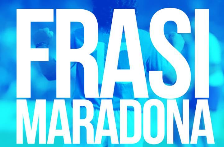 Copertina Maradona frasi