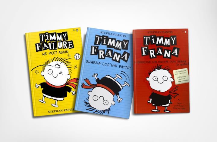 Un dettaglio della copertina del secondo volume in italiano dedicato a Timmy Frana