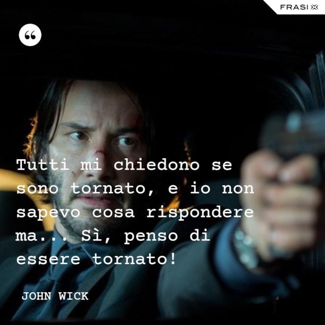 Immagine con frase di John Wick