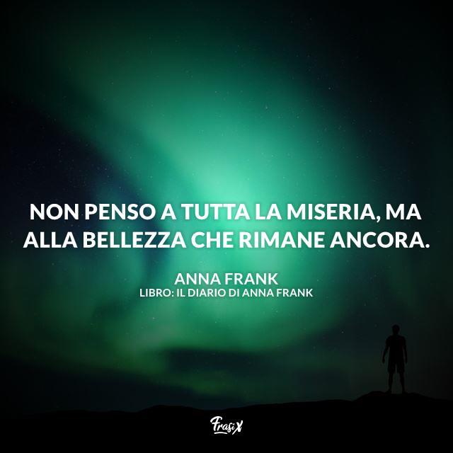 Immagine con frase del Diario di Anna Frank