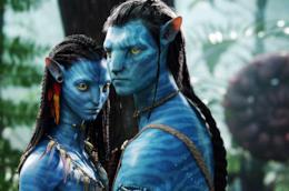 I protagonisti di Avatar in una scena del film