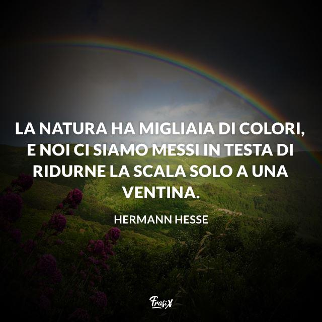 La natura ha migliaia di colori, e noi ci siamo messi in testa di ridurne la scala solo a una ventina.