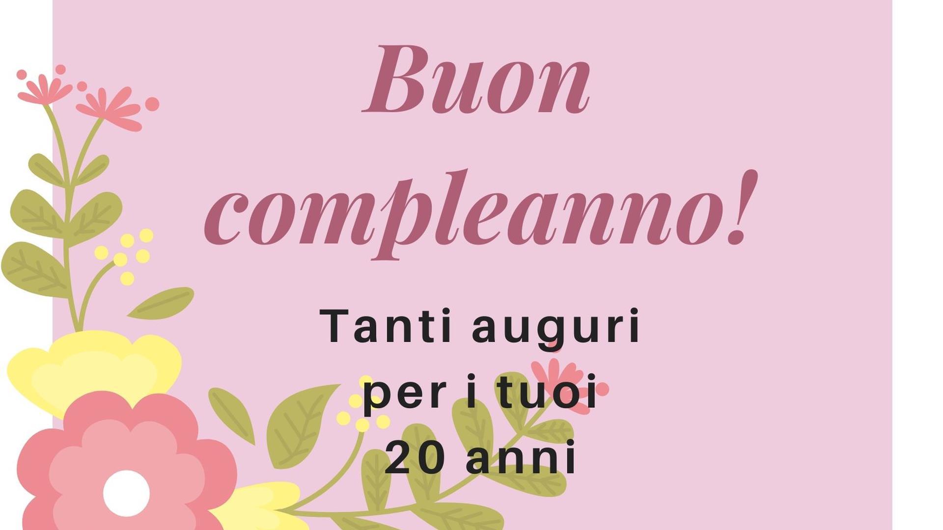 Favoloso Le frasi di compleanno più belle e divertenti per chi compie 20 anni OJ96
