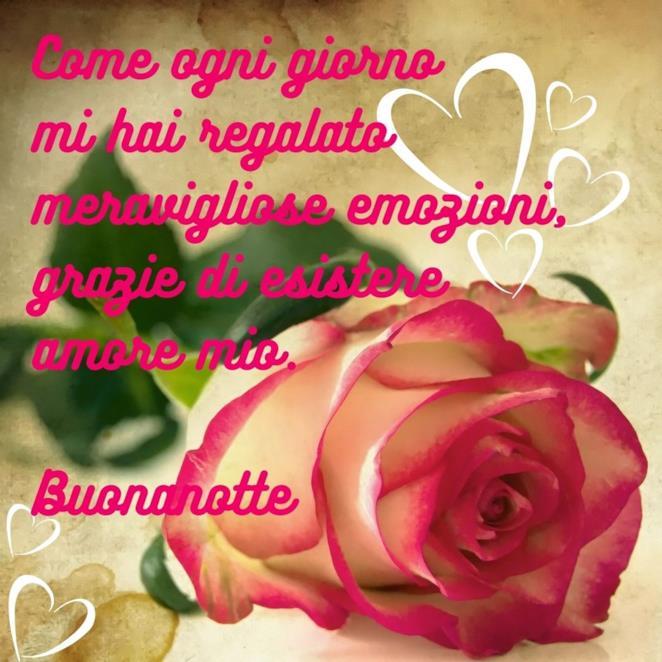 Immagine rosa con scritta Buonanotte