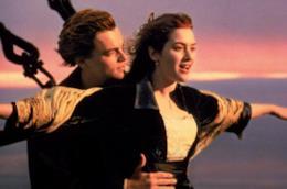 Una scena famosa del film Titanic
