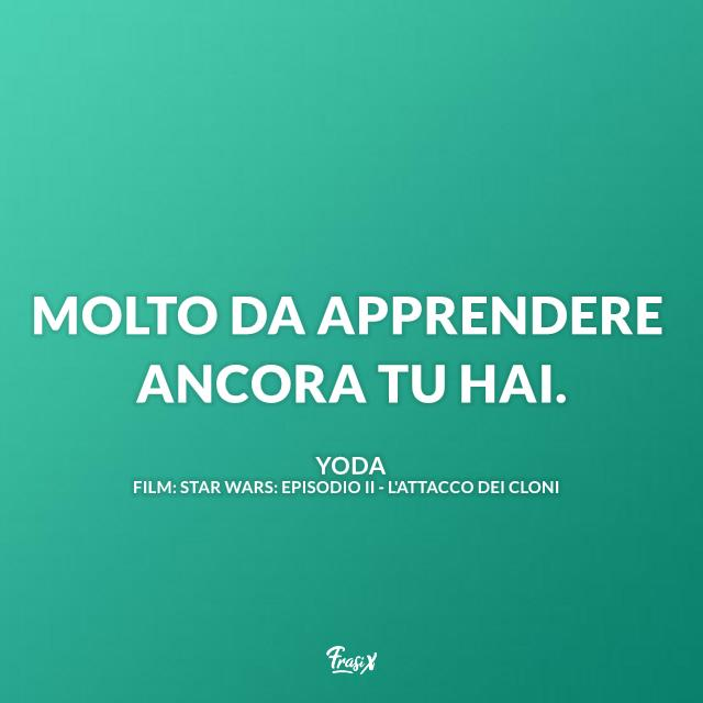 Immagine con frase di Yoda