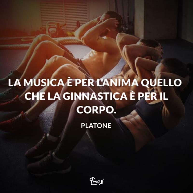 Immagine con citazione platone per frasi sulla ginnastica artistica
