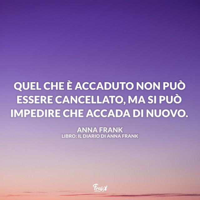 Immagine con frase di Anna Frank
