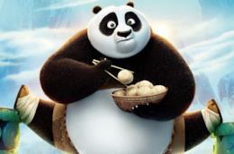 Kung Fu Panda in una scena del film