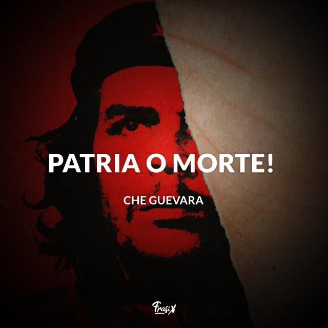 """Aforismi rivoluzionari Che Guevara """"Patria o Morte"""""""