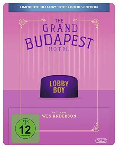 Grand Budapest Hotel Steelbook [Blu-Ray] [Region B] (Audio italiano. Sottotitoli in italiano)
