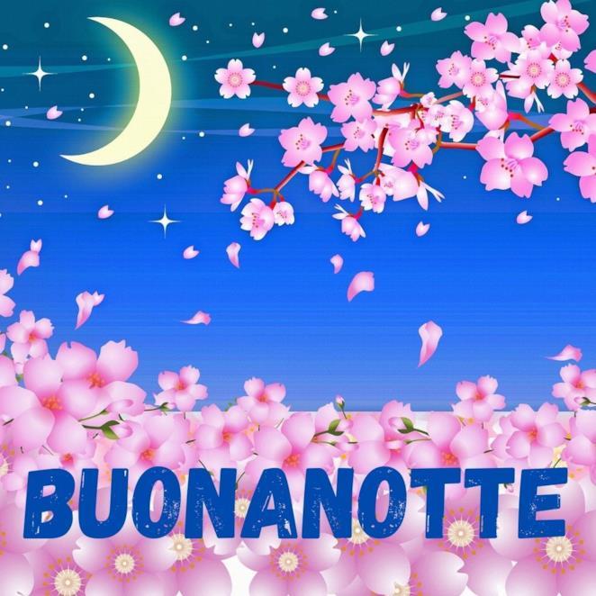 Immagine della buonanotte con fiori