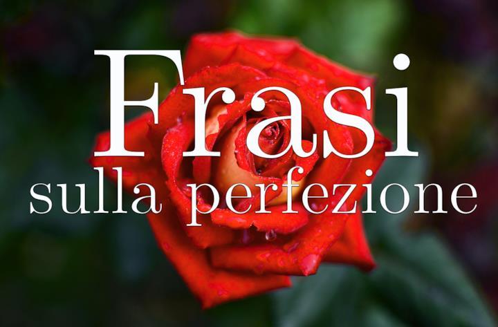 Copertina frasi sulla perfezione