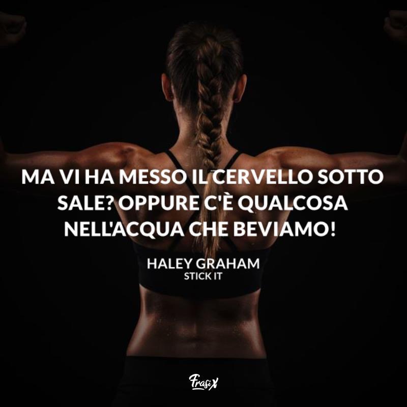 Immagine con citazione haley per frasi sulla ginnastica artistica stick it
