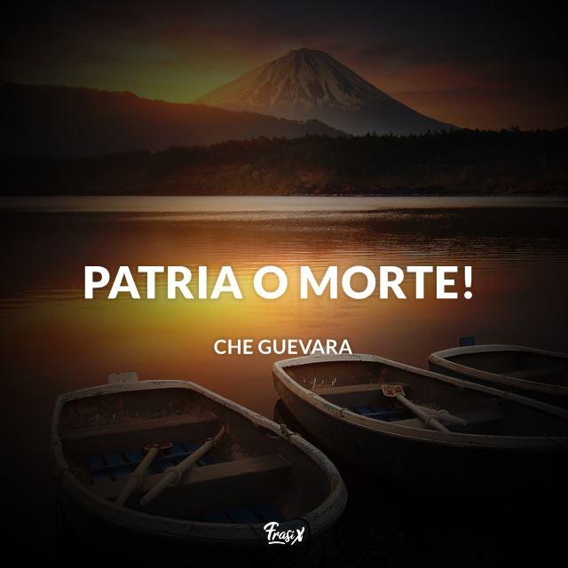 Immagine con frase di Che Guevara