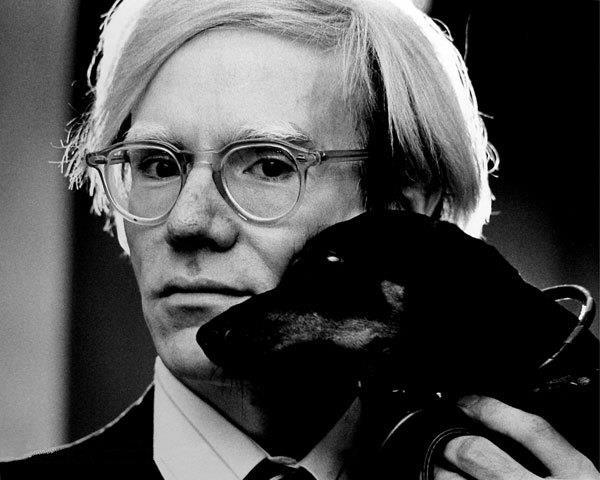 Andy Warhol con il suo cane