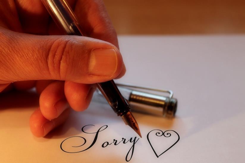 Copertina frasi di scuse