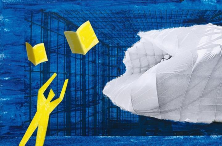 Un omino giallo che insegue i ilbri