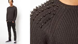 Da uomo un maglione borchiato by ASOS