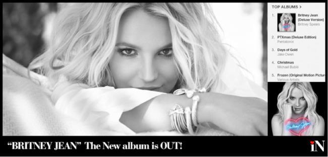 Copertina del disco Britney Jean, di Britney Spears