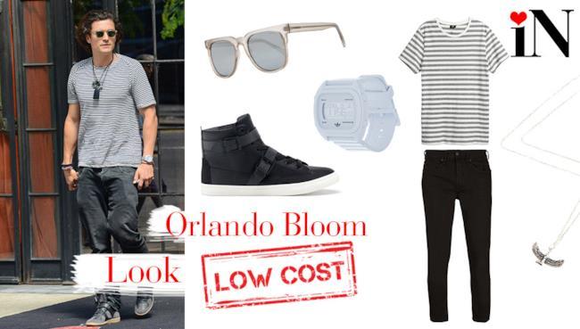 Il look low cost per avere uno stile casual come Orlando Bloom