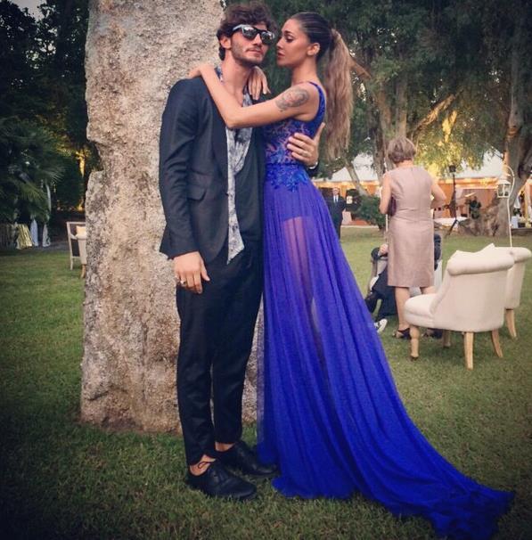 Belen Rodriguez e Stefano De Martino al matrimonio di Elisabetta Canalis