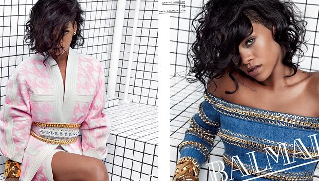 Rihanna testimonial per la nuova campagna di Balmain