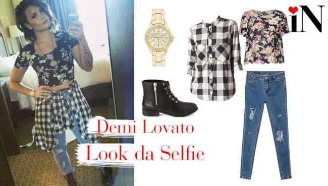 L'outfit da selfie per essere come la cantante Demi Lovato
