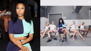 Nicki MInaj alla sfilata di Alexander Wang per la New York Fashion Week 2014