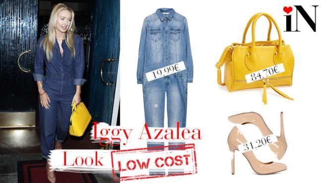 Iggy Azalea outfit in total denim