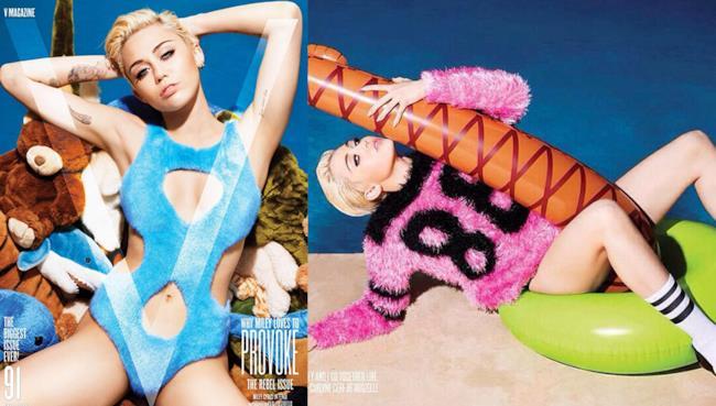 La cantante americana Miley Cyrus è sulla copertina di settembre di V Magazine