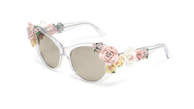 Estate 2014: occhiali da dole con finiture a fiori