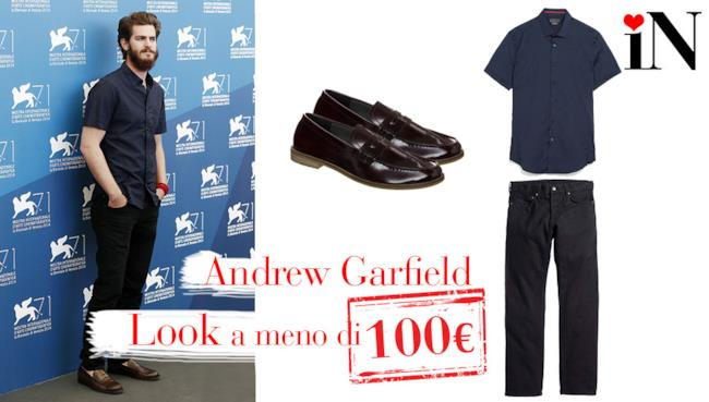 L'outfit low cost di Andrew Garfield per il Festival del Cinema di Venezia 2014