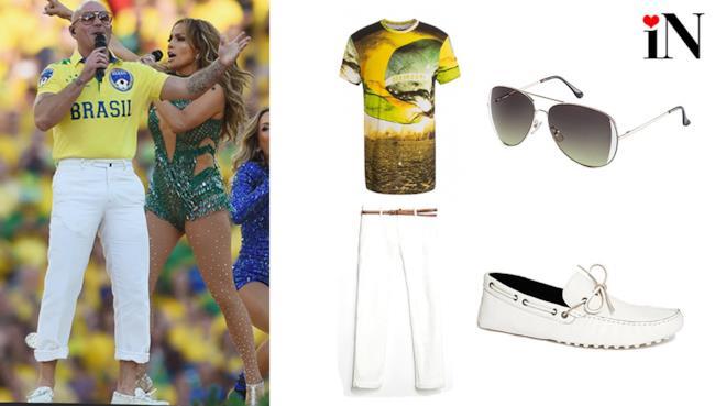 Pitbull World Cup 2014 outfit