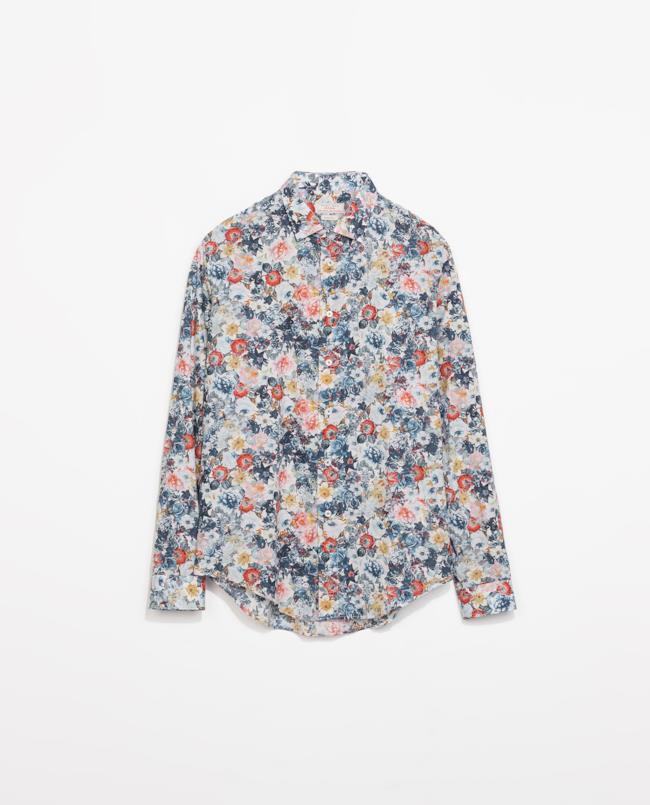 Saldi estivi 2014 camicia con stampa a fiori di Zara, top 5