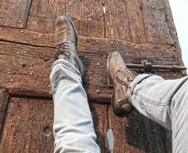 jeans Levi's con stivaletto in pelle