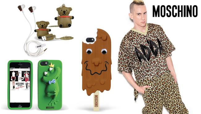 Jeremy Scott con Moschino lancia i nuovi accessori per la summer 2014 come la case per i-Phone