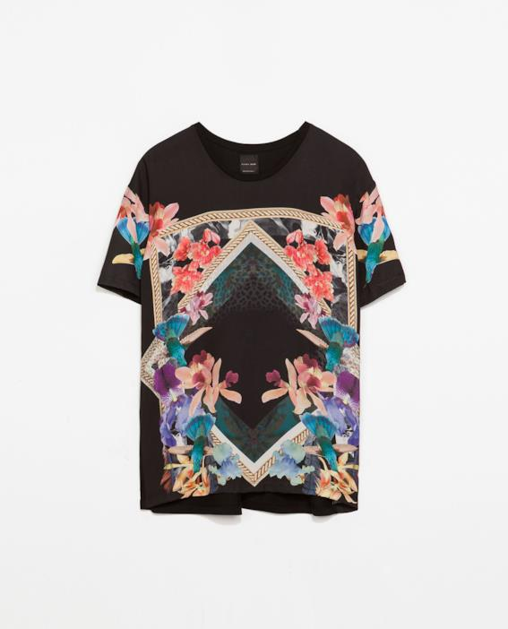T-shirt di Zara per il look low cost alla Kanye West per la summer 2014